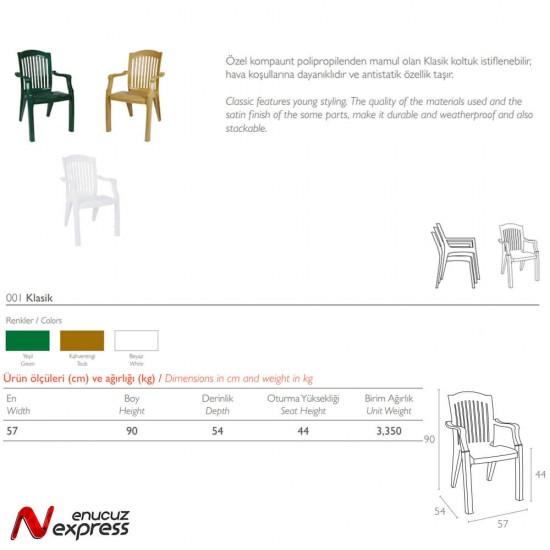 Siesta 001 Klasik Bahçe Sandalyesi   ID1537