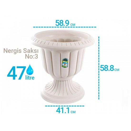Serinova N003 Nergis Dış Mekan Saksı 47 Litre | ID0180
