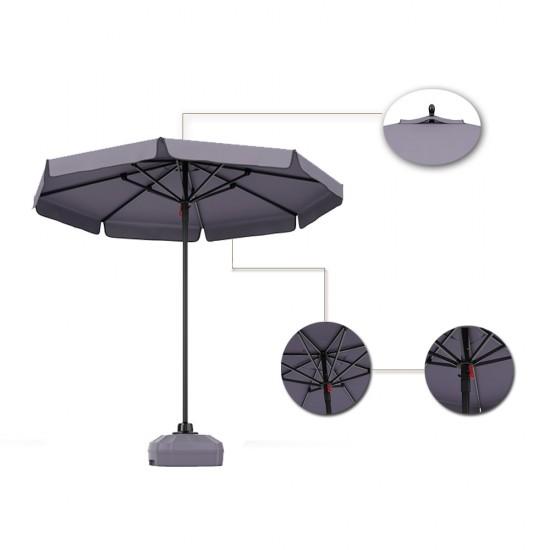 Türkler 317-S Antrasit Polyester Mega Mini Şemsiye Tente 2.25mtx2.25mt  / 8 Yuvarlak | ID0120