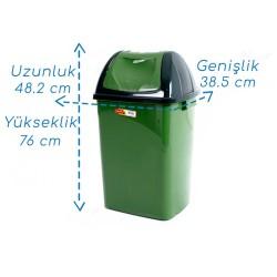 Şenyayla 4194 Kapaklı Çöp Kovası 65 Litre Plastik | ID0516
