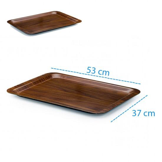 Kraft Lamine Kaydırmaz Dikdörtgen Servis Tepsisi 37x53cm | ID1475