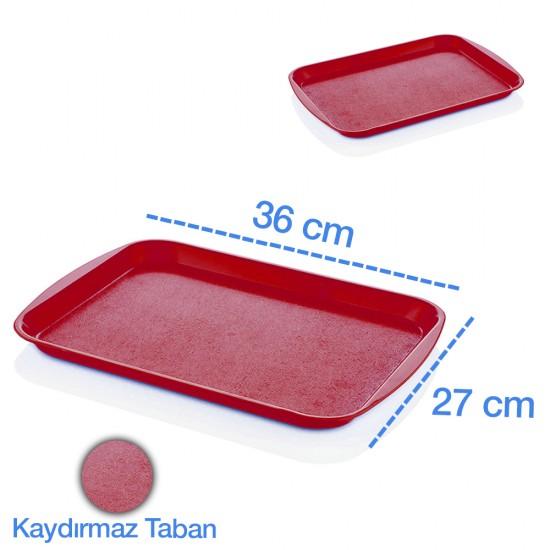 Göreme 2736 ABS Kırmızı Servis Tepsisi 27x36cm | ID1473