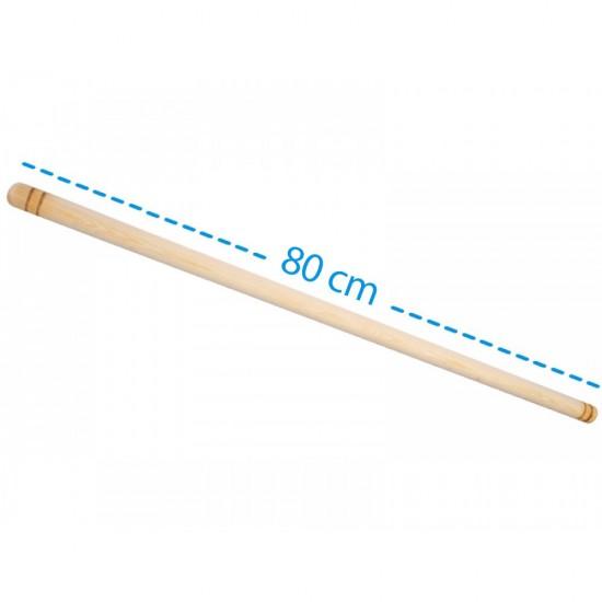Ahşap Çam Oklava 80 cm x 1.5 cm Kalın   ID1136