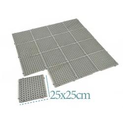 Plastik Yer Karosu Zemin Kaplaması 1210 25x25cm Yer Izgarası | ID0125