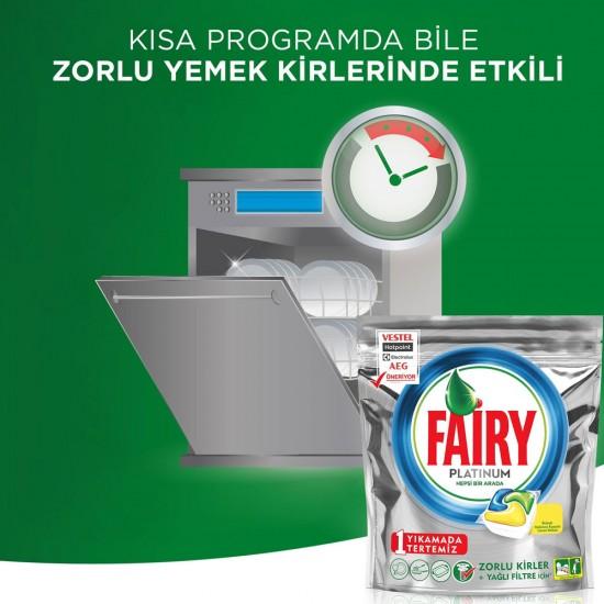 Fairy Platinum Bulaşık Makinesi Tableti Limon Kokulu 90 Tablet | ID1085
